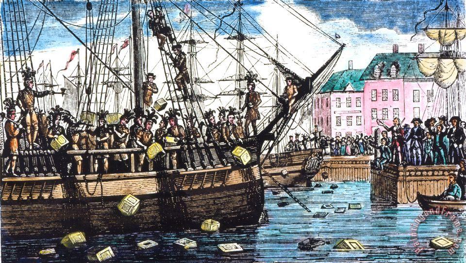 Boston Tea Party, 1773 Painting; Boston Tea Party, 1773 Art Print for sale